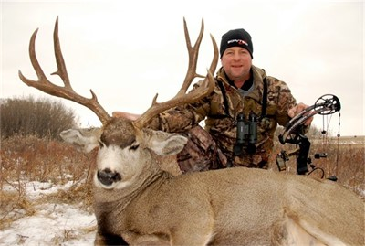 November 1st 2012, RANDY'S FIRST ARCHERY BUCK WITH THE BOWTECH!!!